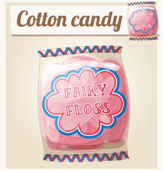 Cotton candy fairy floss in a bag icon vector
