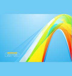 Colors curve wallpaper on a blue vector