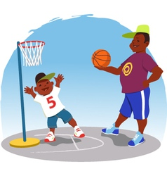 Shooting hoops vector