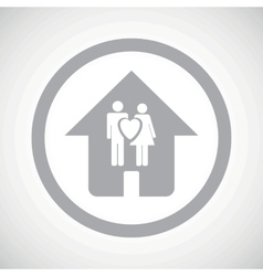 Grey family house sign icon vector