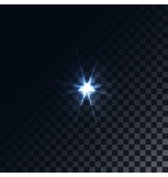 Optical flare on a dark blue background vector