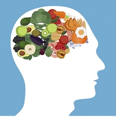 Brain foods concept vector