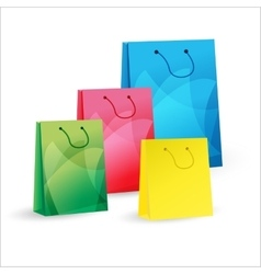 four shopping bags vector image