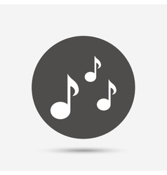 Music notes sign icon musical symbol vector
