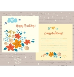 Congratulation happy birthday card for vector