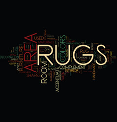 Area rugs text background word cloud concept vector