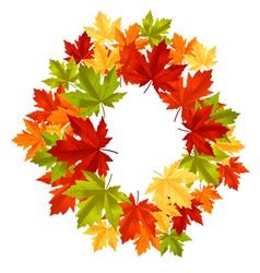 autumnal leaf frame vector image vector image