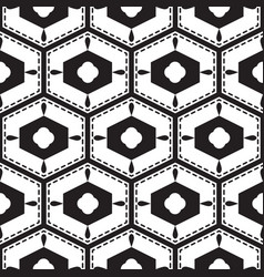Black and white mediterranean seamless tile vector