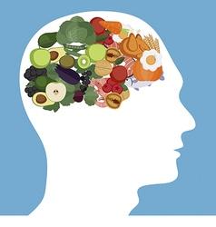 Brain foods concept vector