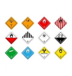 cargo hazardous signs vector image