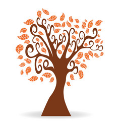 Cartoon autumn tree vector