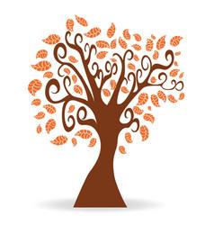 cartoon autumn tree vector image vector image