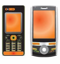 cell phone vector image