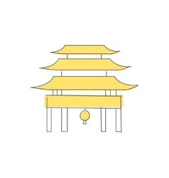Chinese pagoda temple building vector