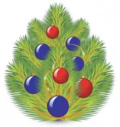 christmas pine vector image vector image