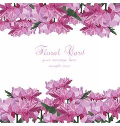 Chrysanthemum flowers card vector