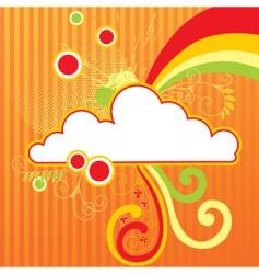 Cloud frame vector