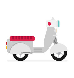creative flat design scooter icon vector image
