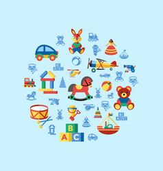 digital blue yellow children vector image vector image