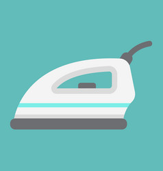 Electric iron flat icon household and appliance vector