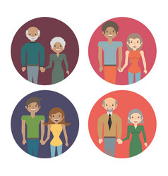 Family couple members love image vector
