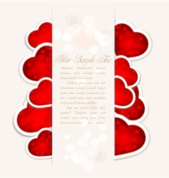 festive valentines day with hearts vector image