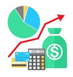 in flat style Finance growing concept vector image vector image