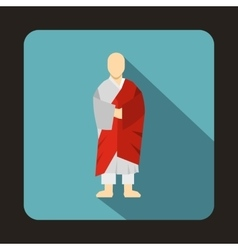 Korean monk icon in flat style vector image vector image