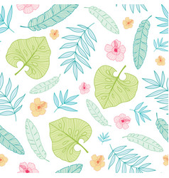 light tropical summer hawaiian seamless vector image vector image