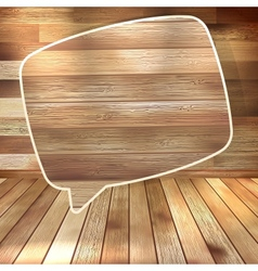 Natural wood texture speech bubbles eps 10 vector