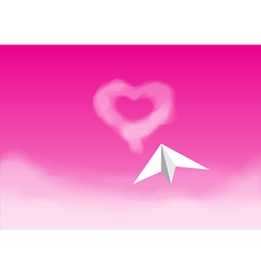 paper plane pinkth vector image vector image