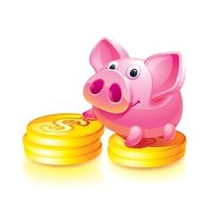 piggy bank guard vector image vector image