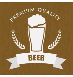 Premium quality beer label vector