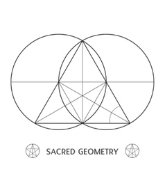 Sacred geometry construction symbol vector