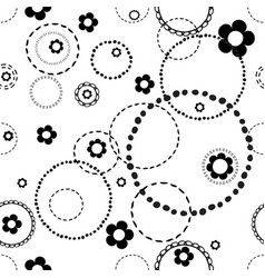 Seamless light pattern with doodles vector