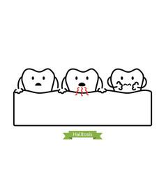 Tooth is halitosis - bad breath concept vector
