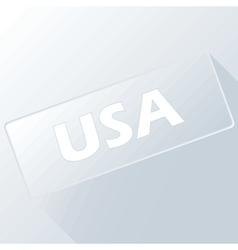 USA unique button vector image