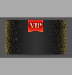 vip or luxury red flag on black gradient backdrop vector image