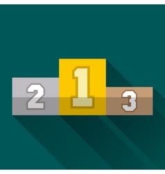 Winners pedestal flat design vector image
