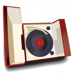 Old fashioned record player vector