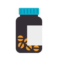 Prescription pill medicament vector