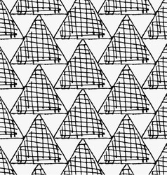 Black marker hatched triangles vector