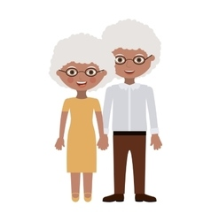 Old woman and man cartoon vector