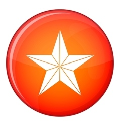 Star icon flat style vector
