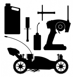 rc buggy with accessories vector image