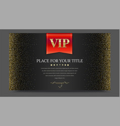 Vip or luxury red flag on black gradient backdrop vector