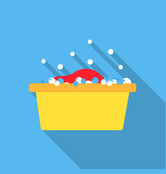Bowl flat icon for web and mobile vector