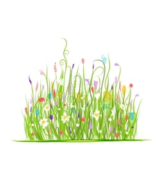Green meadow for your design vector image