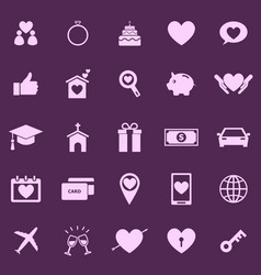 Family color icons on purple background vector