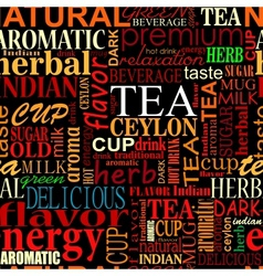 Seamless background with tea tags vector